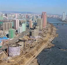 Nordkorea Die Hauptstadt Pj 246 Ngjang Oben Betrachtet