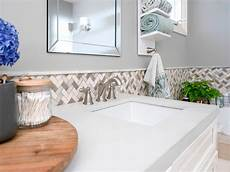 how to install a tile border in a bathroom diy