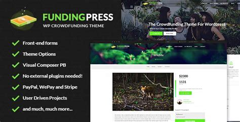 fundingpress v3 9 the crowdfunding wordpress theme