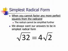 what is the simplest form of the radical expression what is simplified radical form in math quora