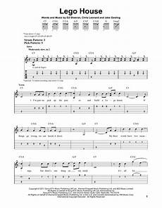 lego house sheet music by ed sheeran easy guitar tab 159413