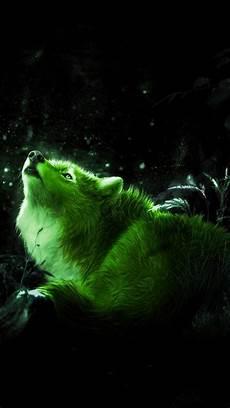 cool green wolf wallpaper green wolf wallpaper by georgekev a2 free on zedge