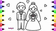 wedding and groom coloring page coloring book