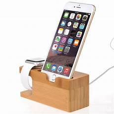 iphone 5 ladestation bamboo charging dock station charger holder stand for