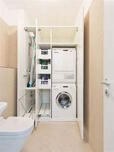 Waschmaschine Und W 228 Schetrockner Im Einbauschrank
