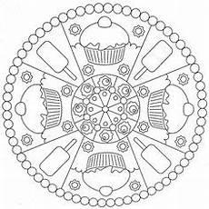 Malvorlagen Mandala Cake Ausmalbilder Geburtstag Oma Mandala Geburtstag