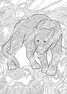 coloring pages black panther animal coloring book