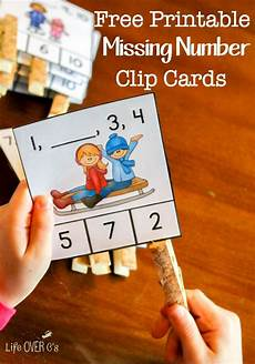 worksheets for counting numbers 8017 free missing number clip cards for kindergarten math is preschool math math classroom