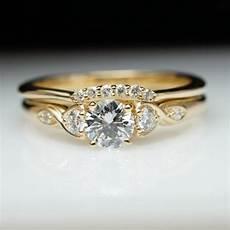 vintage style diamond engagement ring wedding band vintage style yellow gold