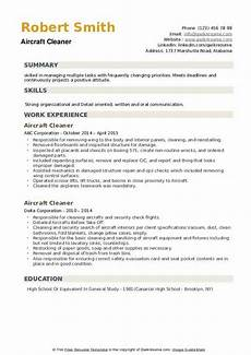 aircraft cleaner resume sles qwikresume