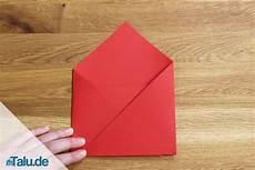 kleinen umschlag falten papier umschlag basteln atellens