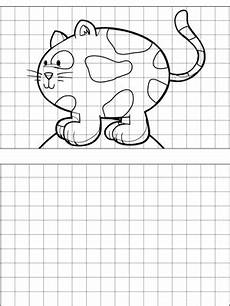 graph paper coloring pages 17652 great as a drawing aid this printable graph paper features a picture of a cat and a blank space
