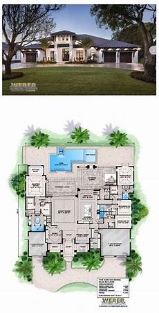 west indies style house plans this west indies style single story home plan offers 4 500