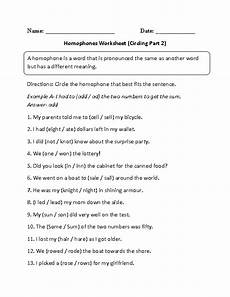 writing sentences with homophones worksheets 22183 circling homophone worksheet part 2 homophones worksheets homophones homophones sentences