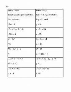 combining like terms and solving equations worksheet by natalie manske