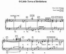 o little town of bethlehem piano sheet music