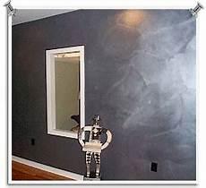 Wand Metallic Effekt - a brushed metal effect creates a modern look paint and