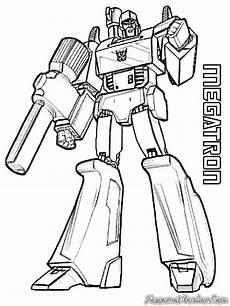 Mewarnai Robot Transformer Mewarnai Gambar