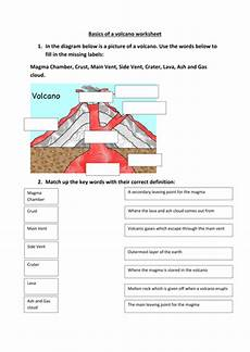 volcano worksheet by occold25 teaching resources