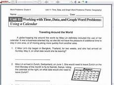 elapsed time worksheets 5th grade word problems 3290 working with time data and graph word problems using a calendar 3rd 5th grade worksheet