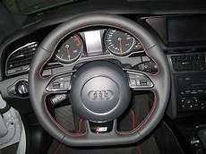 audi s5 facelift lenkrad mit roten n 228 hten eingebaut