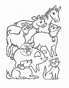 Malvorlagen Tiere Bauernhof Farm Animal Coloring Sheets For Preschool Bubakids