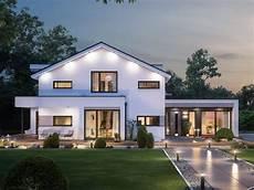 einfamilienhaus mit satteldach modernes fertighaus mit b 252 ro anbau haus concept m 166