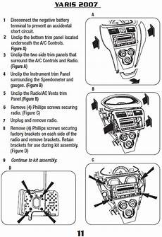2007 toyota yarisinstallation instructions
