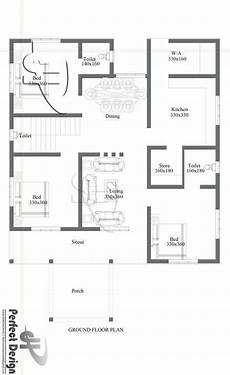three bedroom house plan in kerala simple and beautiful kerala style 3 bedroom house in 1153