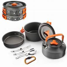 cing cookware outdoor cooking mess kit portable lightweight pots pans water kettle for