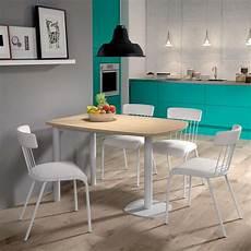Table De Cuisine Demi Oblongue En Stratifi 233 Et M 233 Tal Pour