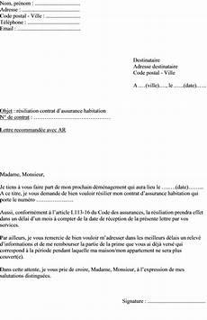 Mod 232 Le De Lettre R 233 Siliation Assurance Maison Pour