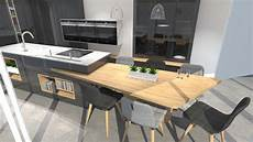 ilot central table coulissante ilot central avec bar photo impressionnant cuisine table
