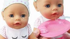 baby born interactive baby doll that cries eats drinks