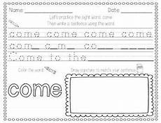 handwriting worksheets sight words 21563 sight word writing practice three by miss kindergarten tpt