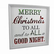 merry christmas to all light up worded plaque twas the before christmas quote