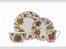 222 Fifth Winter Floral Red 16 Piece Dinnerware Set   eBay