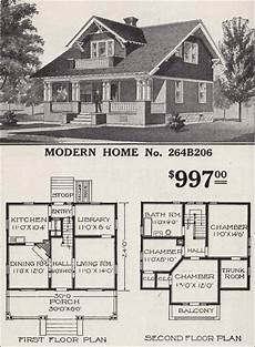 sears craftsman house plans 1916 sears roebuck modern home no 264b206 997 vintage