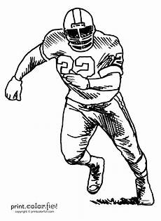 nfl sports coloring pages 17791 football player coloring page print color