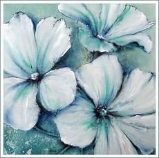 Acryl Malvorlagen Blumen Quot Eisblaue Malven Quot Acrylic On Canvas Acrylmalerei