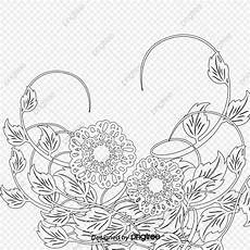 free flower sketch pull material sketch black and white flowers png transparent clipart image