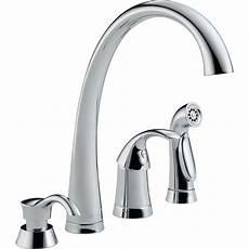 delta pilar waterfall single handle standard kitchen