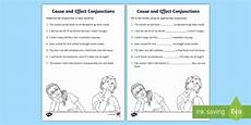 time connectives worksheets grade 2 3515 cause and effect connectives worksheet made