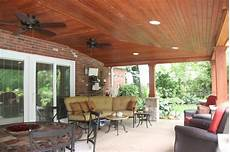 covered patio with vaulted ceiling ideas rustic patio cleveland by jm design build