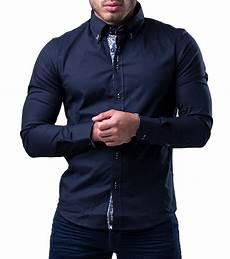 chemise italienne homme bleu marine 8191