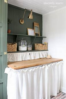 laundry room update in classic dark green vintage laundry room decor powder room renovation