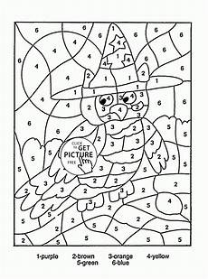 color by number coloring pages for kindergarten 18051 color by number owl coloring page for education coloring pages printables free wuppsy co