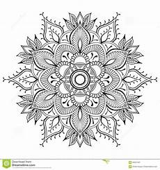 flower black mandala pattern vector