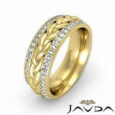 diamond mens eternity wedding band braided design 14k yellow gold 0 57ct ebay
