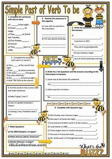 grammar worksheets be verb past 24717 78 best images about past simple on present and printed